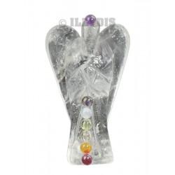Ange Cristal de Roche 7 chakras 5 cm - Qual.A