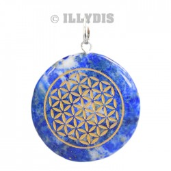 Pendentif Fleur de Vie - Lapis Lazuli