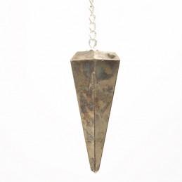 Pendule à 6 Facettes - Pyrite