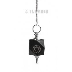 Pendule Pentagramme - Onyx Noir (plus pochette)