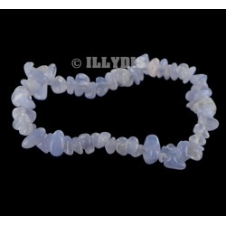 Bracelet Baroque : Agate Blue Lace / Calcédoine Bleue Qual. A - lot de 10