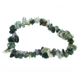 Bracelet Baroque : Agate Mousse - lot de 10