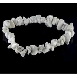 Bracelet Baroque : Howlite Qual. A - lot de 10