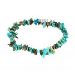 Bracelet Baroque : Turquoise du Tibet Naturelle Qual. A - lot de 5