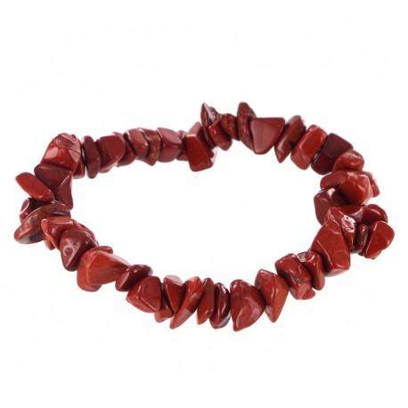 Bracelet Baroque : Jaspe Rouge Qual. A - lot de 10