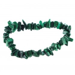 Bracelet Baroque : Malachite Naturelle Qual. A - lot de 10