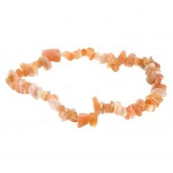 Bracelet Baroque : Pierre de Soleil Naturelle Qual. A - lot de 10