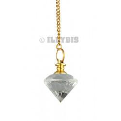 Pendule Diamant - Cristal de Roche